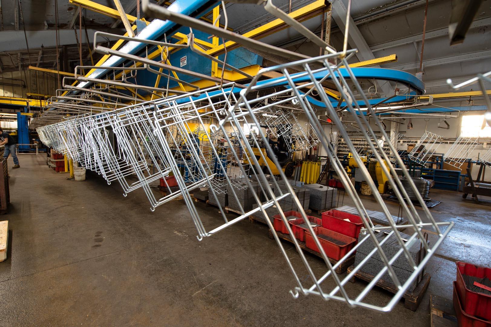 wald wire's custom wire baskets zinc plating